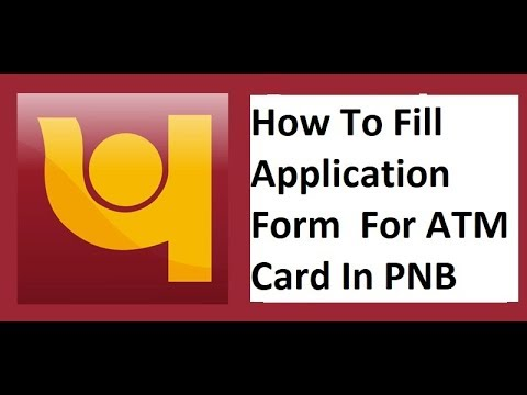 pnb atm card application form