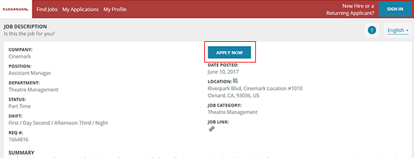 town and country job application