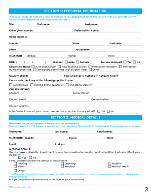 school application form template word