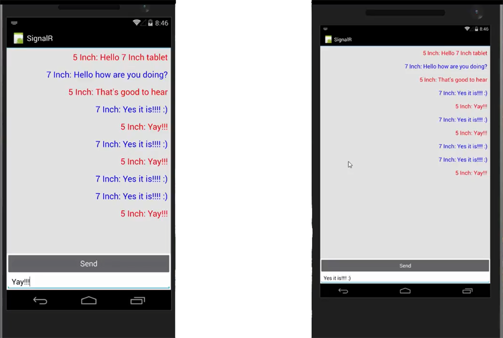 android chat application using gcm