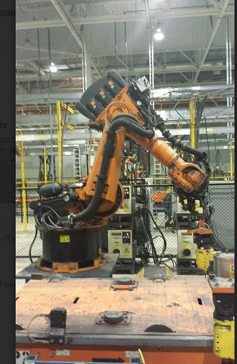 industrial application of line follower robot
