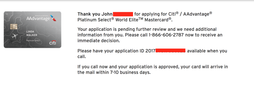 citibank credit card application status online with reference number