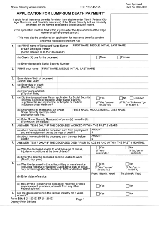 cpp death benefit application information sheet