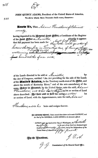 crown land patent grant application