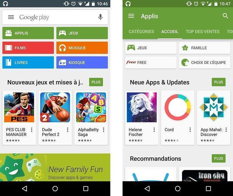 play store application gratuite pour tablette