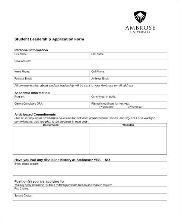 example of a good nhs application