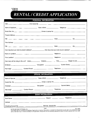 credit application form template nz