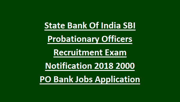 sbi po application form 2018