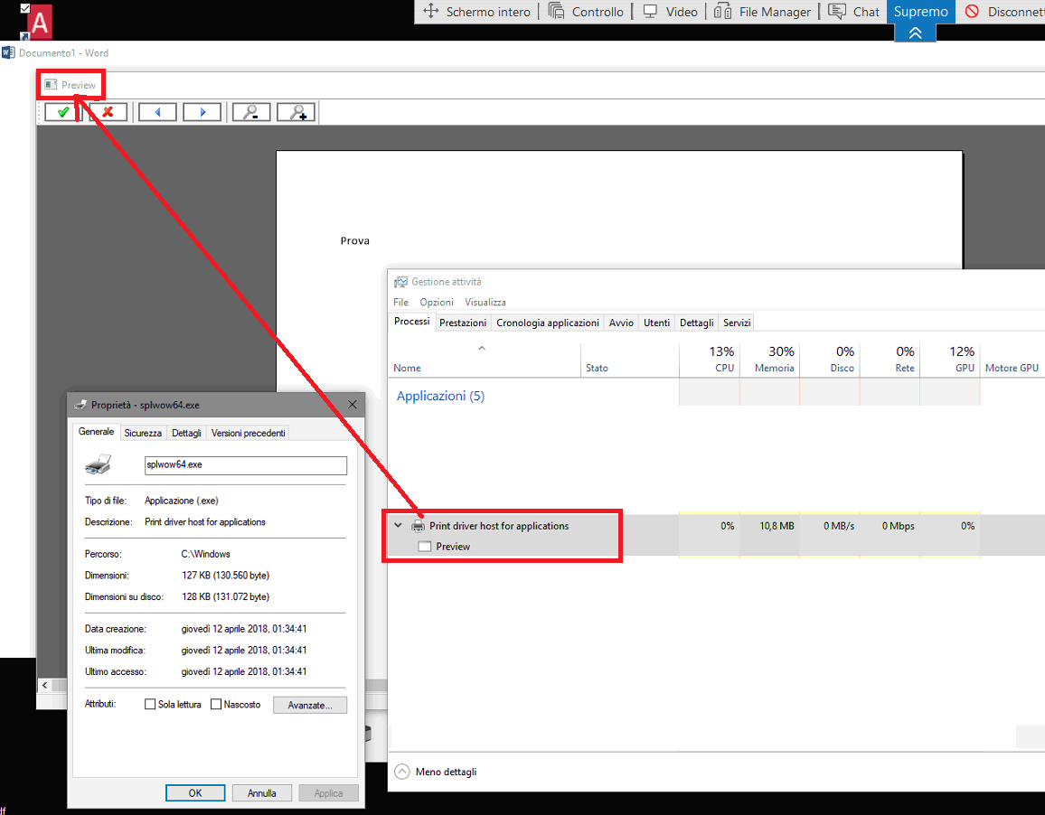 splwow64 exe print driver host for applications
