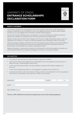 university of otago application form