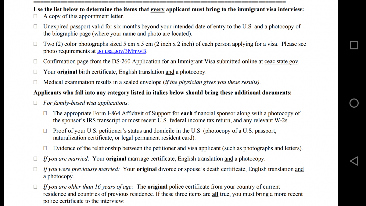 uscis visa application ds 160