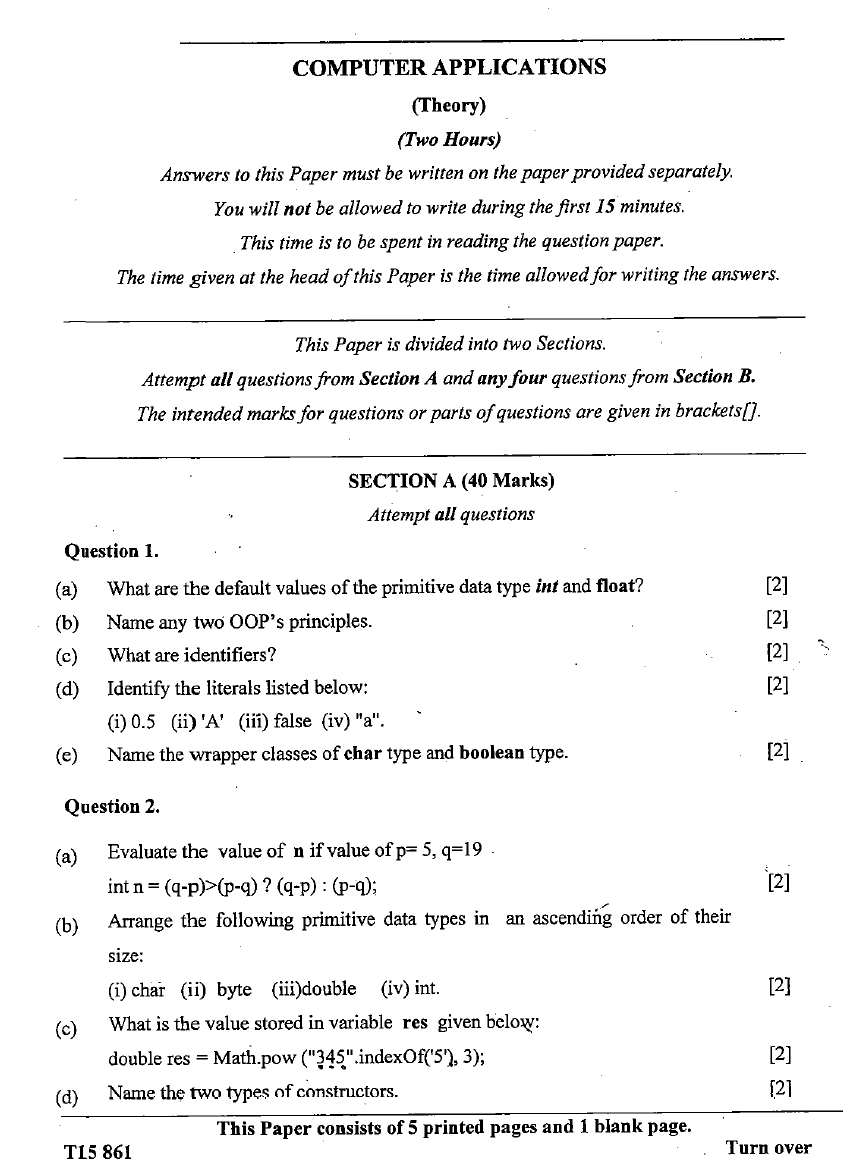 what is an application question