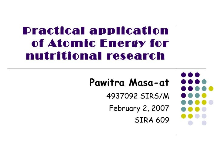 what is practical application in research